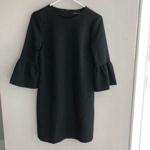 Zara Black Ruffle Sleeve Dress Size XS